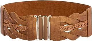 Women's Elastic Vintage Belt Stretchy Retro Wide Waist Cinch Belt