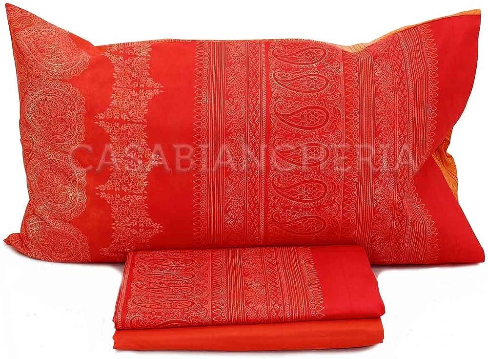 """Bassetti granfoulard , completo per letto matrimoniale """"brunelleschi"""" ,in seta e cotone"""