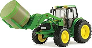 Big Farm John Deere 7330 Vehicle with Front Bale Mover and Bale