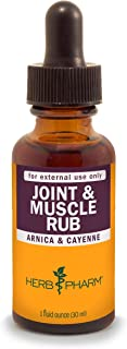 Herb Pharm Joint and Muscle Warming Rub with Cayenne Liquid Extract - 1 Ounce