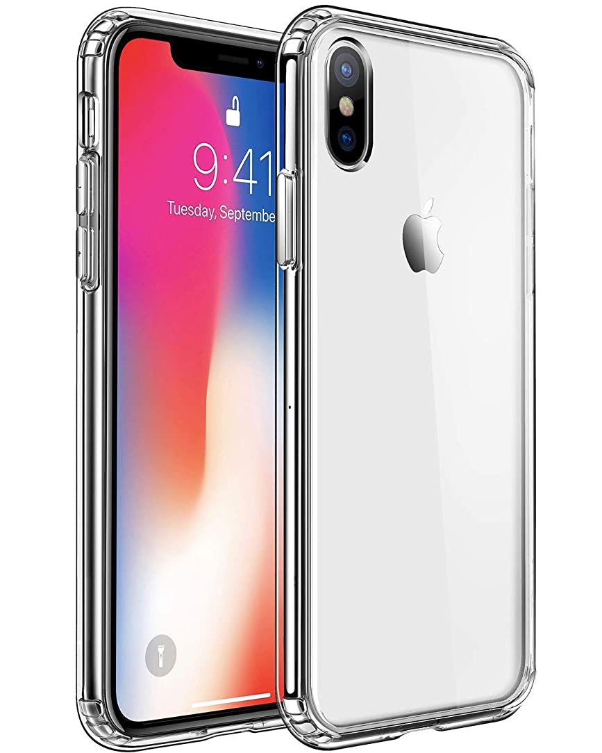 GoGodreams iPhone Xs max Case, Super Thin Super Fit TPU Clear Case Full Scratch Protective Cover for iPhone Xs max(Clear)