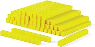 hand2mind Yellow Plastic Base Ten Blocks, Rods (Pack of 50)