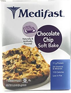 Medifast Chocolate Chip Soft Bake Cookies (1 Box/7 Servings)