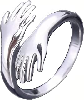 خاتم هاغنغ اليدين يحمل خواتم مفتوحة هدية رائعة للأصدقاء أو الزوجة