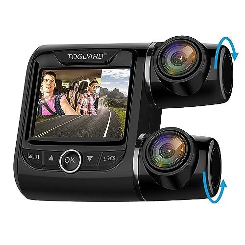 da55d26c98e6 TOGUARD Uber Dual Dash Cam FHD 1080P+1080P Front and Rear View Car Camera 2