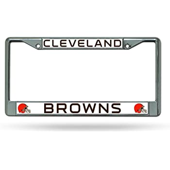 Orange 6 x 12 6 x 12 Inc LZC2801 Rico Industries NFL Cleveland Browns Laser Inlaid Metal License Plate Tag