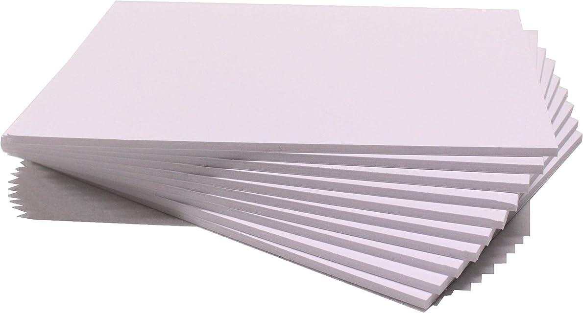 Chely Intermarket carton pluma blanco A3 con espesor de 5mm/10 unidades/foam board rectangular para manualidades foto o soporte (540-A3*10-095)
