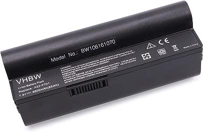 vhbw Akku passend f r Asus Eee PC 700  701  900  2G  4G  8G  12G  20G Laptop Notebook  Li-Ion  8800mAh  7 4V  65 12Wh  schwarz