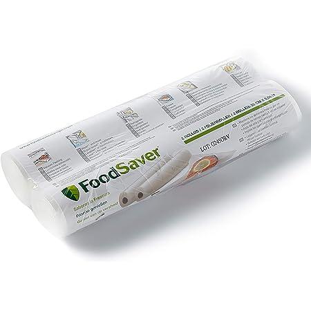 FoodSaver FSR2802 - Rotolo Termosigillabile per Macchina per Sottovuoto Alimenti, senza BPA, 28 cm x 5.5 m, 2 Pezzi
