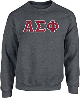 Alpha Sigma Phi Twill Letter Crewneck Sweatshirt