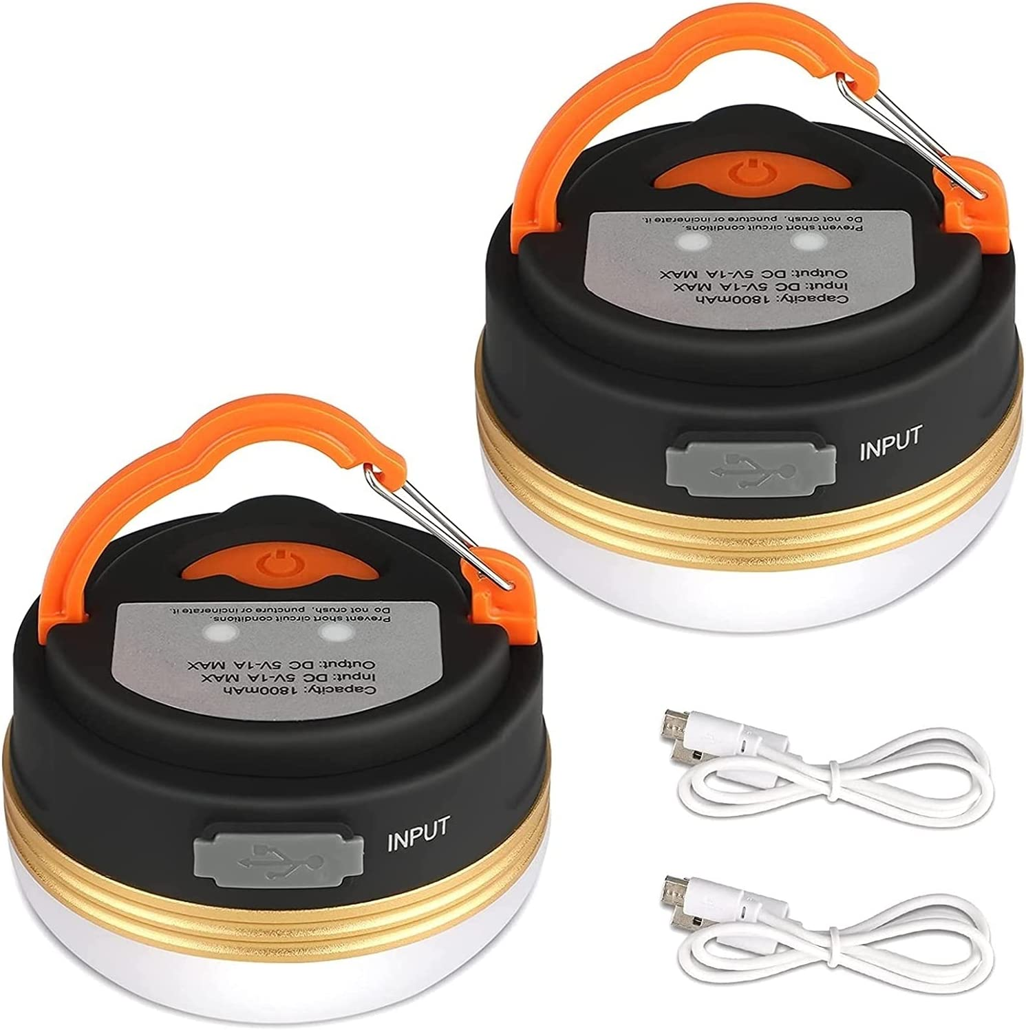 Camping Lights 2 security Pcs Tent Ultra-Cheap Deals USB Rechargeable Lante