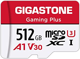 Gigastone マイクロSDカード 512GB Micro SD Card Nintendo Switch 動作確認済 SD アダプタ付 adaptor MicroSDXC A1 U3 V30 C10 100MB/S 高速 microsdカ...