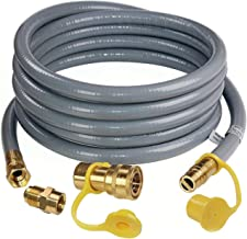 """DOZYANT 24 Feet 1/2 ID Natural Gas Hose, Propane Gas Grill Quick Connect/Disconnect Hose Assembly with 3/8"""" Female Flare b..."""