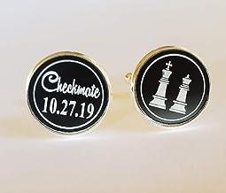 Dandelion International Chess Illustration Cufflinks,Popular Glass Cufflinks,Meaningful Cufflinks Gift