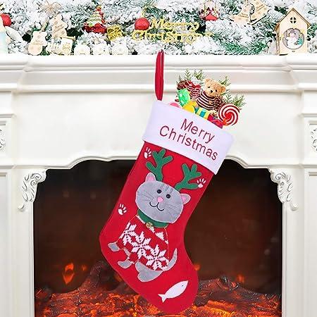 1# Storage Pouch Dog Paw Christmas Stocking Candy Gift Bag Xmas Tree Hanging Pendant Ornament khkadiwb Merry Christmas