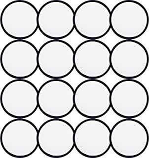 16 Pieces Sublimation Patch Blanks Quality Fabric Iron-on Circular Blank Patch for Clothes, Hats, Uniforms, Backpacks or O...