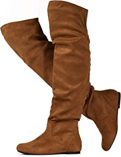 RF ROOM OF FASHION Women's Stretchy Over The Knee Slouchy Boots