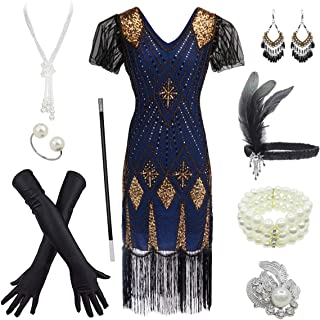 Women's 1920s Gatsby Inspired Sequin Beads Long Fringe...