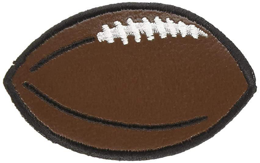 Wrights Iron-On Appliques-Brown Leather Football 2