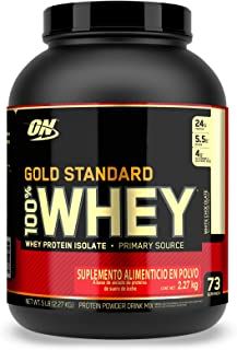 Optimum Nutrition Gold Standard 100% Whey Chocolate Blanco Bote 5 Lb