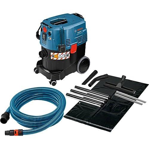 Bosch GAS 35 M AFC Professional - Aspirador para Seco y Húmedo (1200W, Capacidad del Depósito 35L, Manguera de 5m, Soy Cartón)