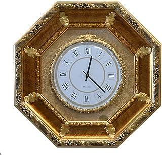 ITALIA CORNICI Wall Clock Reloj de pared clásico de cuarzo Marco de madera Decoraciones Salón Dormitorio Casa, Regalo de N...