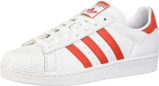 adidas superstar red and black stripe