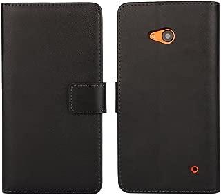 Lumia 640 Case iCoverCase Premium Leather Wallet Case Kickstand Phone Shell Flip Cover for Nokia Microsoft Lumia 640 (Black)