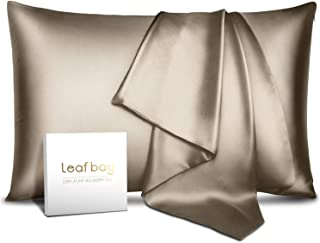 Leafbay 100% Pure Mulberry Silk Pillowcase for Hair & Skin -Allergen Proof Dual Sides 600 Thread Count Silk Bed Pillow Cas...