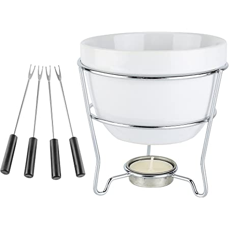 Home Essentials Home Essentials & Beyond 73024 blanco Set de fondue de chocolate en caja de color 5 D en, color blanco