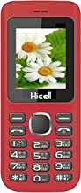 HICELL C5 Basic Feature Mobile Phone with Dual Sim, 1. 8 Inch Display, 1000 Mah Battery, Fm Radio, Bluetooth, Torch, Digital Camera (Red/Black)