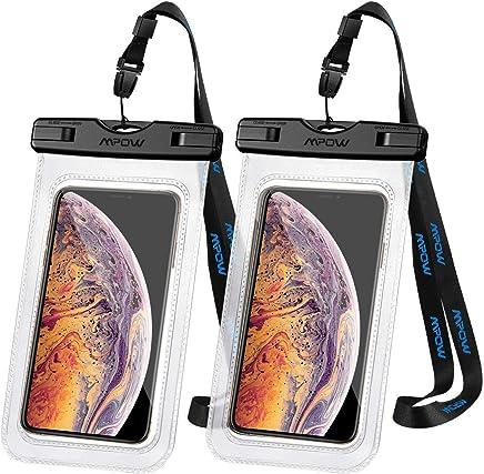 【Lot de 2】Mpow Pochette Étanche Téléphone IXP8, Plongée Sac Étanche Haut Transparent Touche-Sensible jusqu'à 6.5 Pouces pour Tous Les Mobiles, IphoneXR/XS/X/8/7, Mate 20/P30/P20/P10, galaxy S8/7/6