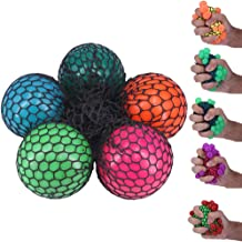 MagicBalls 7cm Squishy Mesh Ball Grape Ball Anti-Stress Ball Suitable for All People Over 3 Years Old to Play for Exercising,Venting,Relaxing....-5Pcs/Pack