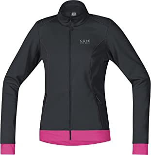 GORE BIKE WEAR Women's  Windstopper Active Shell Zip-Off Lady Jacket, Neon Yellow/Black, X-Small
