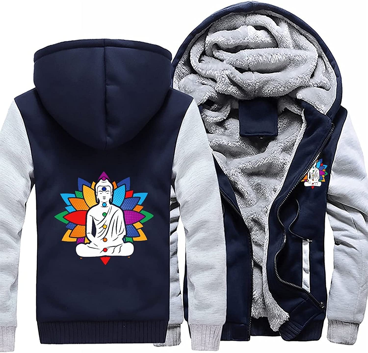Buddha Chakra Low price Meditation Men's Pullover Ho OFFicial store Winter Fleece Workout