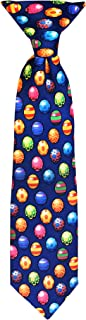 Jacob Alexander Boys' Colored Easter Eggs Blue 11 inch Clip-On Neck Tie