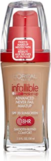 L'oreal Infallible Advanced Never Fail Makeup, Sand Beige, 1-Fluid Ounce