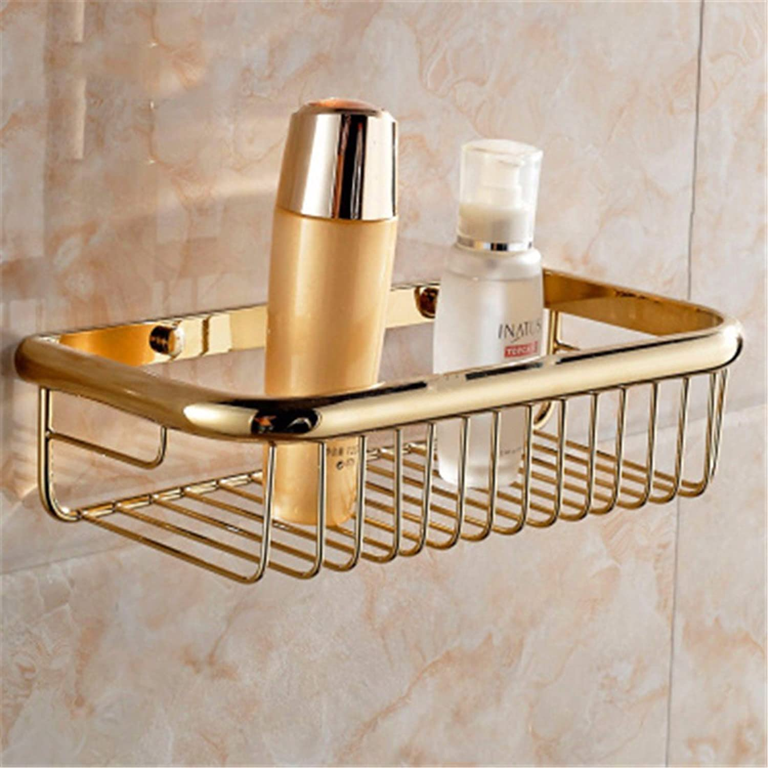 Continental Copper gold Ceramic Base Bathroom Accessories Set Single Double Bar Toilet Brush Holder, The Built-in Basket 1