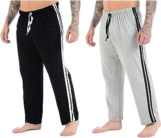 Pack Of 2 Men's Lounge Pyjamas Long Bottom Nightwear Striped Trousers
