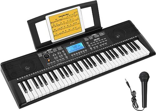 Donner Clavier électronique Piano Enfant Numérique 61 Touches avec Support de Partitions et Microphone, DEK-610