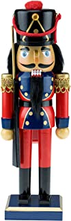 Clever Creations Traditional Wooden Soldier with Rifle Nutcracker | Red, Blue, and Gold Coat Outfit with Rifle | Festive Christmas Decor | 10.25