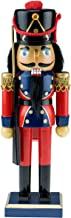 Clever Creations Traditional Wooden Soldier with Rifle Nutcracker | Red, Blue, and Gold Coat Outfit with Rifle | Festive C...