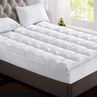Giselle King Mattress Topper Bamboo Fibre Pillowtop Protector
