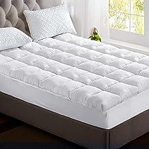 Giselle Queen Mattress Topper Bamboo Fibre Pillowtop Protector