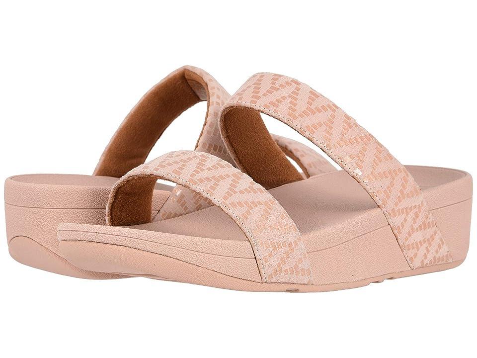 FitFlop Lottie Chevron Slide (Oyster Pink) Women