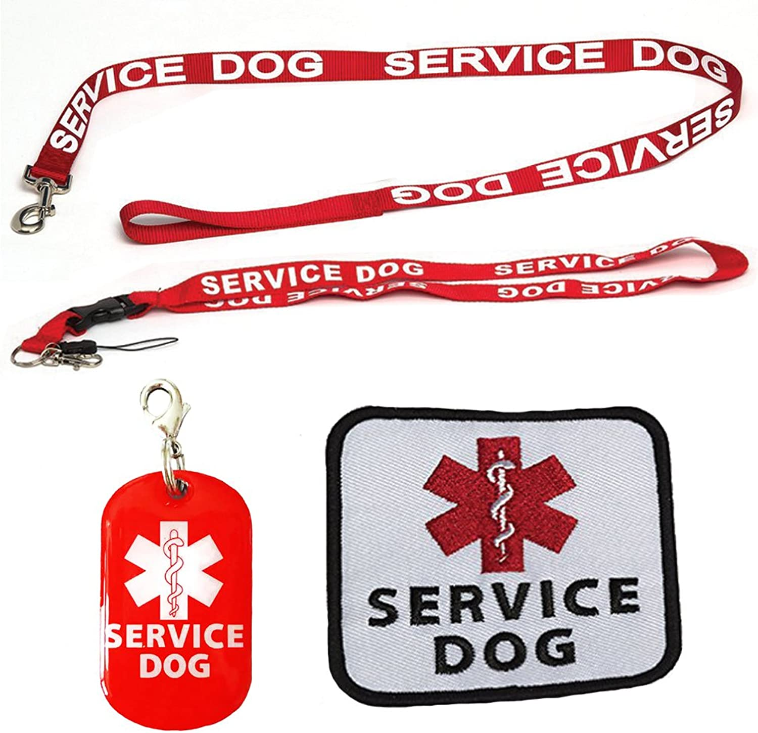 Service Dog Leash with Free Kit  Receive 3 Free Service Dog Bonuses Including  Free Service Dog Collar Tag, Lanyard, and Patch. Limit Time Offer. 100% Lifetime Guarantee on All Service Dog Gear.