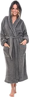 Womens Turkish Terry Cloth Robe, Thick Hooded Bathrobe