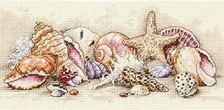 Dimensions Petite Seashell Treasures Counted Cross Stitch Kit