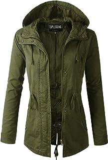 Anorak Jacket Women, Lightweight, Long Military Cargo Parka, Regular & Plus Size