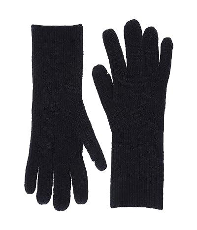 J.Crew Supersoft Easy Ribbed Gloves (Navy) Dress Gloves